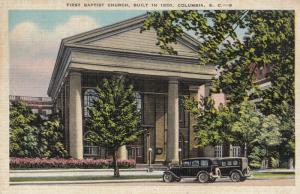 COLUMBIA , South Carolina , 30-40s ; First Baptist Church