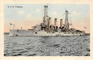 USS Virginia  Postcards Post Cards Old Vintage Antique  USS Virginia