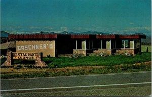 CANON CITY COLORADO - DASCHNERS RESTAURANT LOUNGE - HWY 50 - POSTCARD