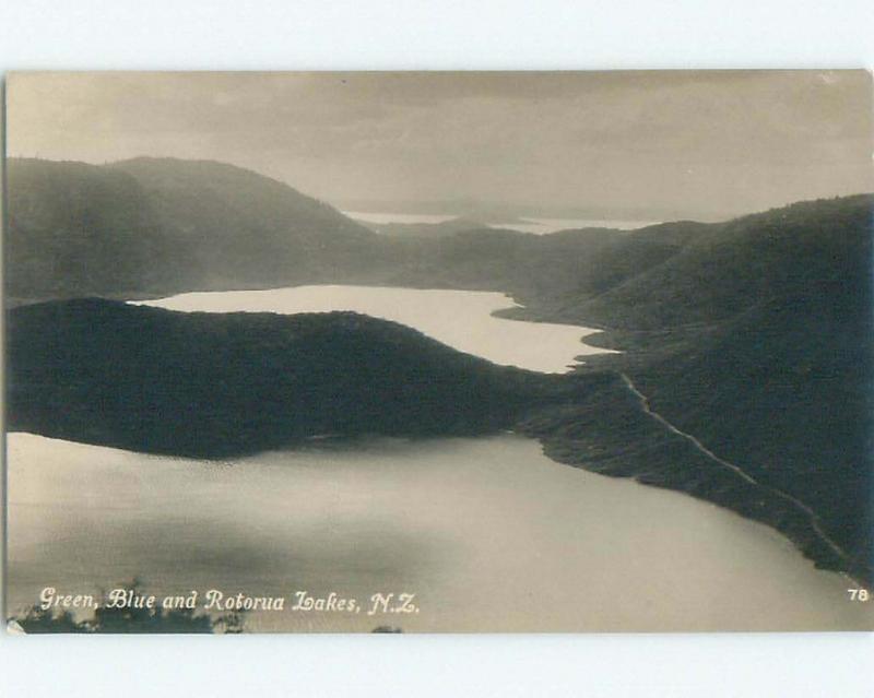old rppc NICE VIEW Lake Rotorua New Zealand i1938