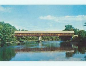 Unused Pre-1980 COVERED BRIDGE Campton New Hampshire NH t8309