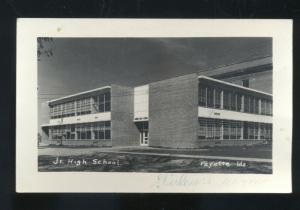 RPPC PAYETTE IDAHO JUNIOR HIGH SCHOOL BUILDING VINTAGE REAL PHOTO POSTCARD
