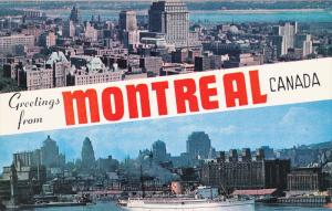 Montreal Business Section, Montreal Skyline And Harbour, MONTREAL, Quebec, Ca...