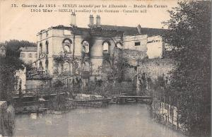 BR78165 senlis incendie   moulin mill des carmes  france  ww1 war military
