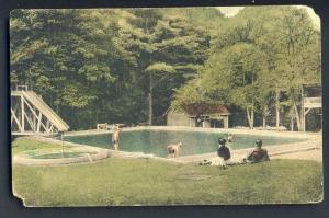 Wichendon, Mass/MA Postcard, Swimming Pool/Toy Town Tavern
