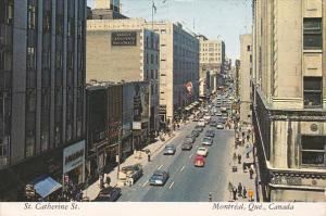 Classic Cars, St. Catherine Street, Montreal, Quebec, Canada, PU-1975