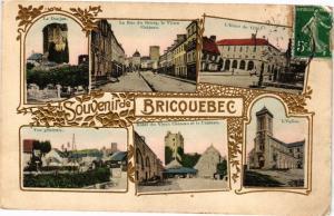 CPA Souvenir de BRICQUEBEC - collage (149620)