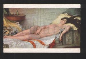 077648 NUDE Woman w/ LONG HAIR by TARDIEU old SALON