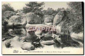 Old Postcard Foret Fontainebleau La Mare aux Biches Gorges of Apremont