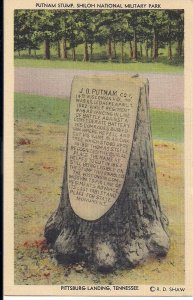 Shiloh TN, Civil War Battlefield, Unusual Monument, Pittsburg Landing, Linen PC