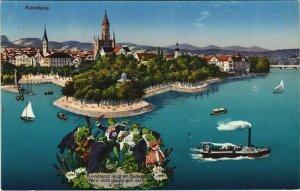 CPA AK Gruss aus Konstanz GERMANY (1133363)