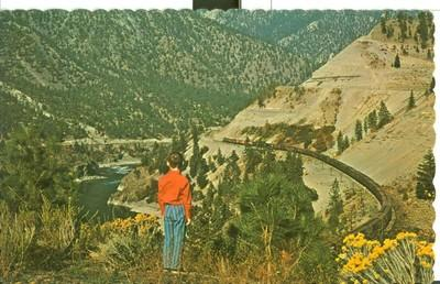 Canada, Thompson Canyon, used Postcard