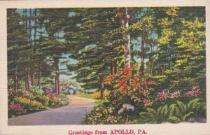 Pennsylvania Greetings From Apollo 1938