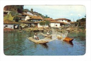 Famous Buterrfly Nets Opposite Janitzio Island, Janitzio, Michoacan, Mexico, ...