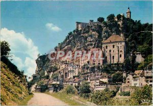 Postcard Modern Rocamadour (Lot) Place of Pilgrimage of the Middle Ages famou...