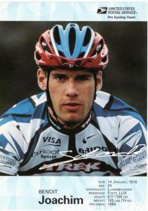 USPS Pro Cycling Team - Post Card - Benoit Joachim - Mint
