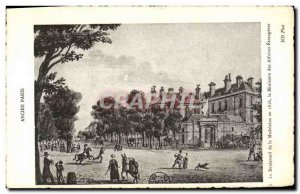 Old Postcard Old Paris Boulevard De La Madeleine in 1818. The Ministry Of For...