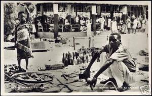 tanzania, TABORA, Native Market (1950s) RPPC