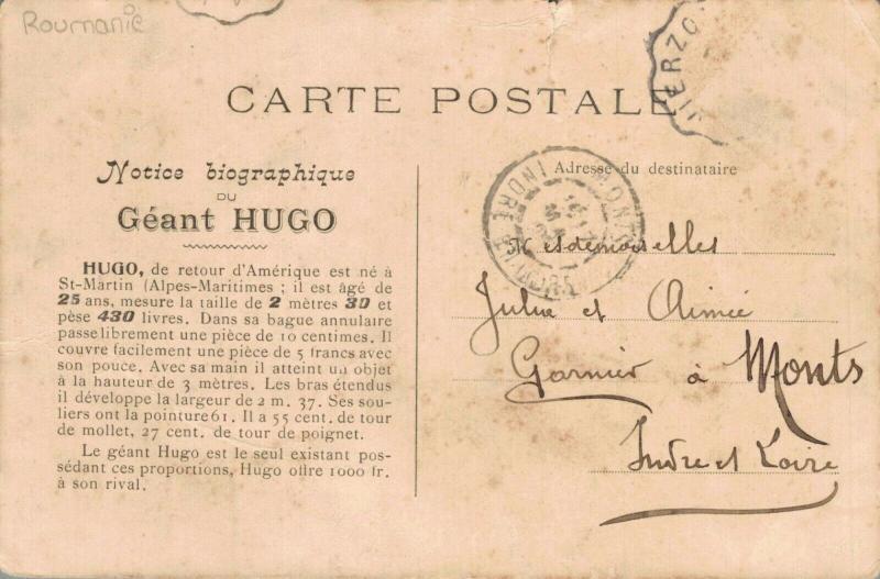 Saint Martin Vésubie - Excursion du Géant Hugo Postcard 02.75