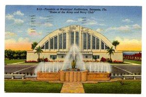FL - Sarasota. Municipal Auditorium, Fountain