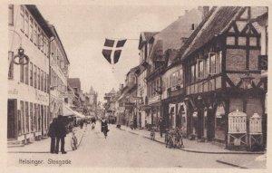 Helsinger Stengade Bicycle Flag Denmark Antique Postcard