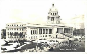 Cuba, Republica De Cuba Havana Capitol Bldg Real Photo