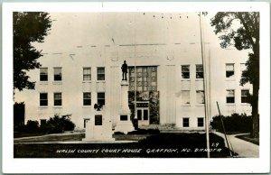 GRAFTON North Dakota RPPC Real Photo Postcard WALSH COUNTY COURT HOUSE c1950s