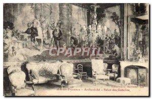 Old Postcard Aix en Provence Archeveche Salon des Gobelins