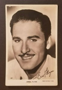 Mint Movie Star Errol Flynn Real Picture Photograph Postcard