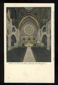 Providence, Rhode Island/RI Postcard, Interior,  St Peter & St Paul Cathedral