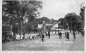 Conkling Unconditionals Passing Soldiers' Monument Escorting Sherman hom...