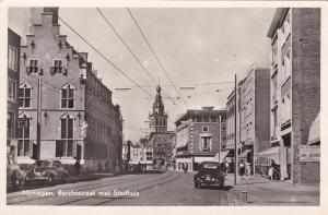 RP: NIJMEGEN , Netherlands , 1930-40s ; Burchtstraat met Stadhuis