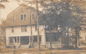 A65/ Cleveland Ohio Postcard Real Photo RPPC 1913 Lake Erie Vacation Home?