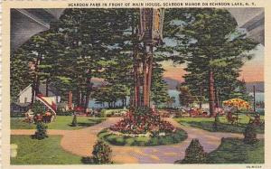 Scaroon Park in front of Main House, Scaroon Manor on Schroon Lake, New York,...