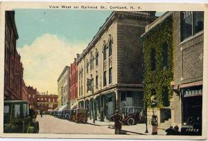 Railroad Street - (Now named Central Avenue) - Cortland, New York - pm 1939