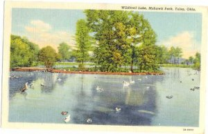 Wildfowl Lake, Mohawk Park, Tulsa, Oklahoma, OK, Linen