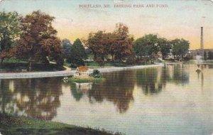 Maine Portland Deering Park And Pond 1908