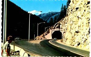 Canada - BC, Fraser Canyon. China Bar Tunnel near Boston Bar