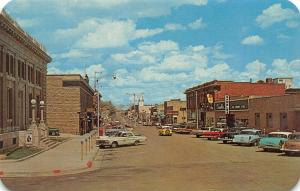 Rawlins Wyoming~Cedar Street~Gambles~Pacific Power~Uncle Sam Poster~1950s Cars