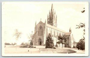 Mercersburg PA~Mercersburg Academy Cathedral~Wm Mann Irvine Chapel~c1926 RPPC