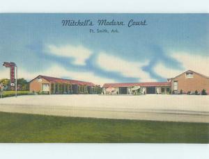 Unused Linen MITCHELL'S MODERN COURT MOTEL Fort Smith Arkansas AR M5842