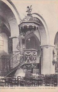 France Jargeau Loiret L'Eglise Chaire en fer forge du XVIII