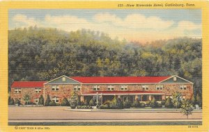 Gatlinburg Tennessee TN 1948 Postcard New Riverside Hotel