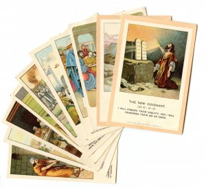 Picture Lesson Cards - Bible Teachings, 10 Assorted. © 1891-1904