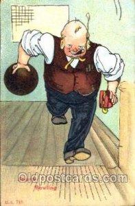 Bowling Postcard Postcards 1909