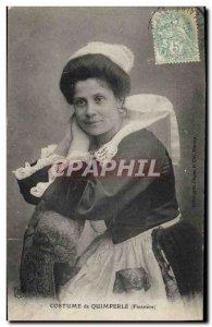 Postcard Old Folk Costume Quimperle