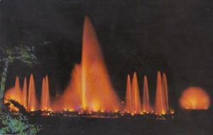 Pennsylvania Kennett Square Longwood Gardens Fountains At Night