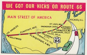We Got our Kicks on Route 66 , Map , 40-50s