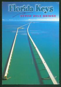 Key West Seven Mile FLORIDA KEYS Bridge Blue Ocean Continental Postcard