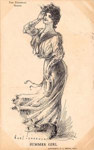 Axel Tornrose Series~Summer Girl~Sailor Dress Lady Salutes~Windblown~1907 PC